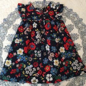 Baby Gap Floral Dress Flutter Sleeve 18-24 Months
